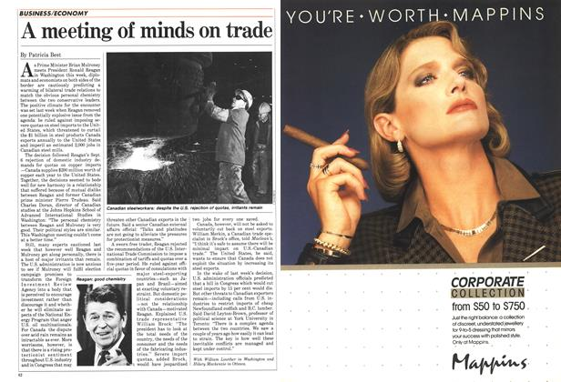 Article Preview: A meeting of minds on trade, October 1984 | Maclean's
