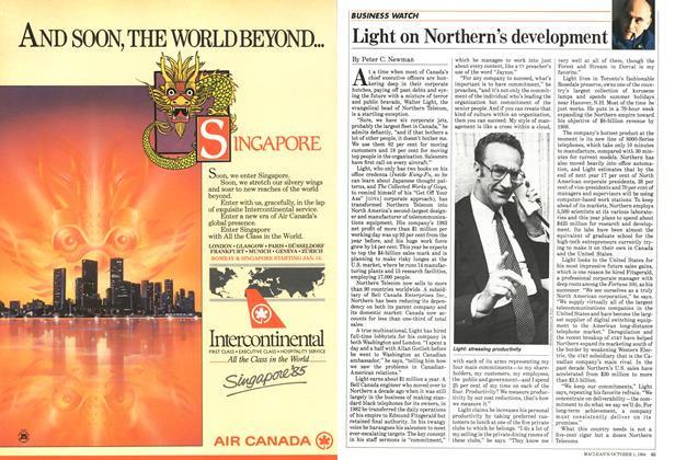 Article Preview: Light on Northern's development, October 1984 | Maclean's