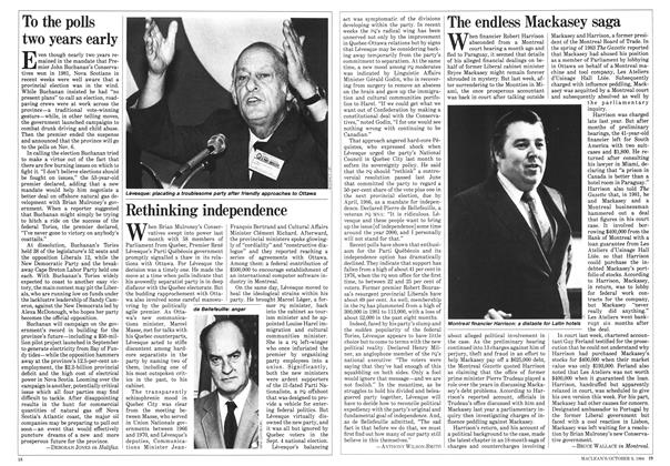 Article Preview: The endless Mackasey saga, October 1984 | Maclean's