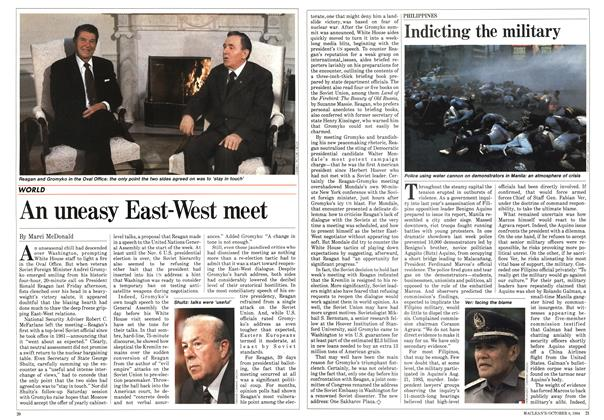 Article Preview: An uneasy East-West meet, October 1984 | Maclean's