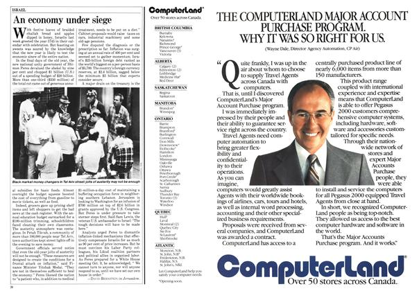 Article Preview: An economy under siege, October 1984   Maclean's