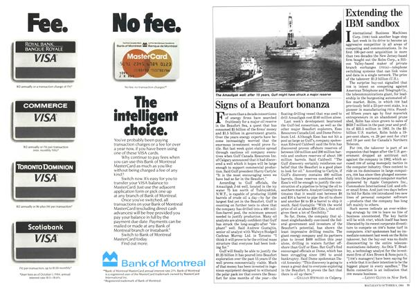 Article Preview: Signs of a Beaufort bonanza, October 1984 | Maclean's