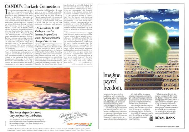 Article Preview: CANDU's Turkish Connection, October 1984 | Maclean's