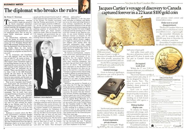 Article Preview: The diplomat who breaks the rules, October 1984 | Maclean's