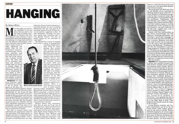Article Preview: HANGING, October 1984 | Maclean's
