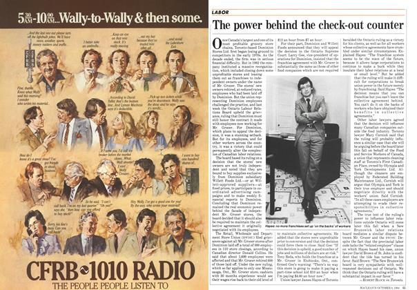 Article Preview: The power behind the check-out counter, October 1984 | Maclean's