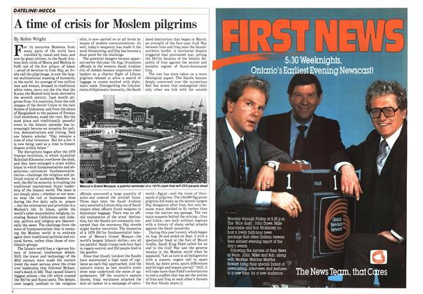 Article Preview: A time of crisis for Moslem pilgrims, October 1984 | Maclean's