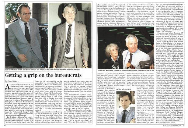 Article Preview: Getting a grip on the bureaucrats, October 1984 | Maclean's