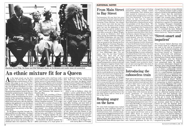 Article Preview: An ethnic mixture fit for a Queen, October 1984 | Maclean's