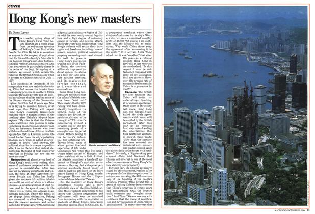 Article Preview: Hong Kong's new masters, October 1984 | Maclean's