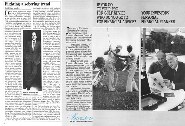 Article Preview: Fighting a sobering trend, October 1984 | Maclean's