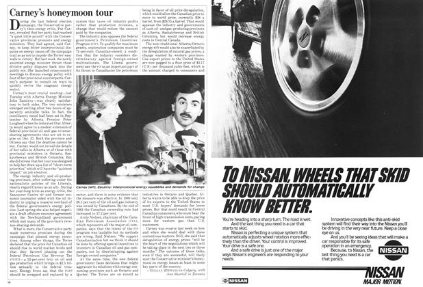Article Preview: Carney's honeymoon tour, October 1984 | Maclean's