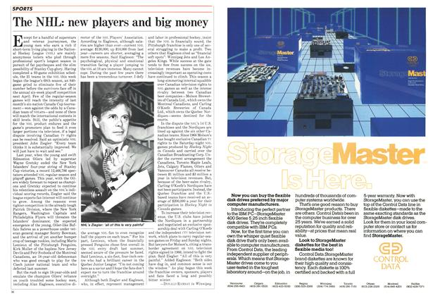 Article Preview: The NHL: new players and big money, October 1984 | Maclean's