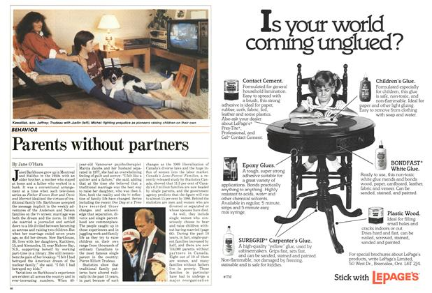 Article Preview: Parents without partners, October 1984 | Maclean's