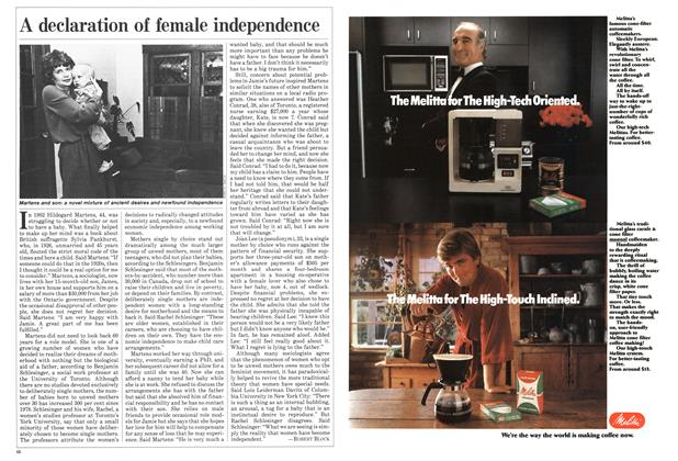 Article Preview: A declaration of female independence, October 1984 | Maclean's