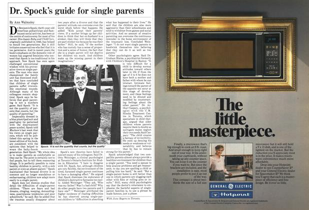 Article Preview: Dr. Spock's guide for single parents, October 1984 | Maclean's