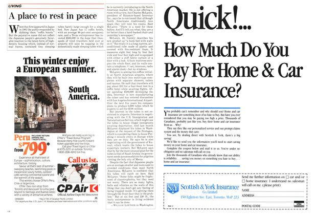 Article Preview: A place to rest in peace, October 1984   Maclean's
