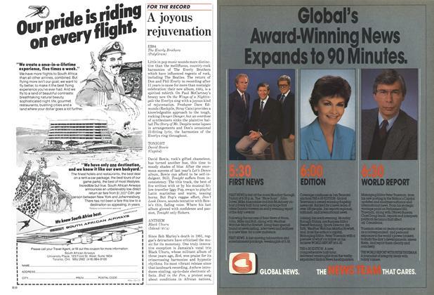 Article Preview: A joyous rejuvenation, October 1984 | Maclean's