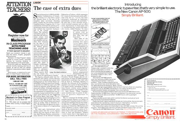 Article Preview: The case of extra dues, October 1984 | Maclean's