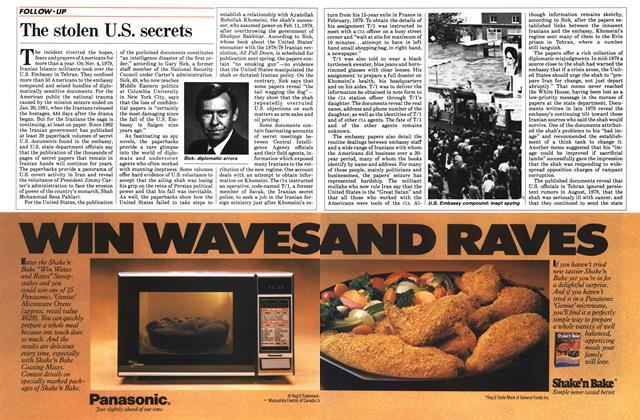 Article Preview: The stolen U.S. secrets, October 1984 | Maclean's
