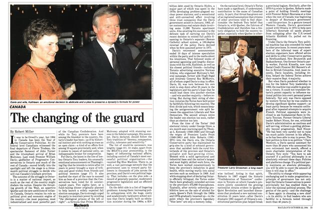 Article Preview: The changing of the guard, October 1984 | Maclean's
