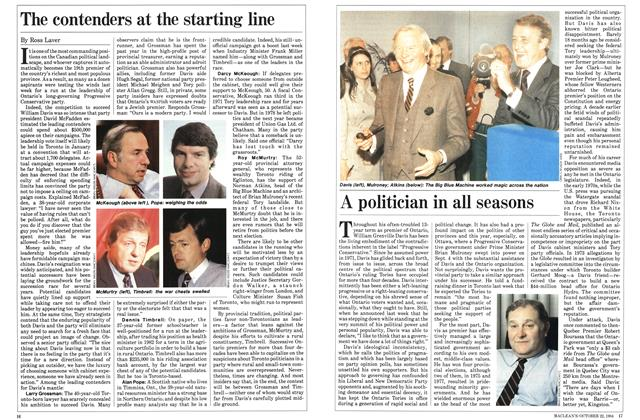 Article Preview: A politician in all seasons, October 1984 | Maclean's