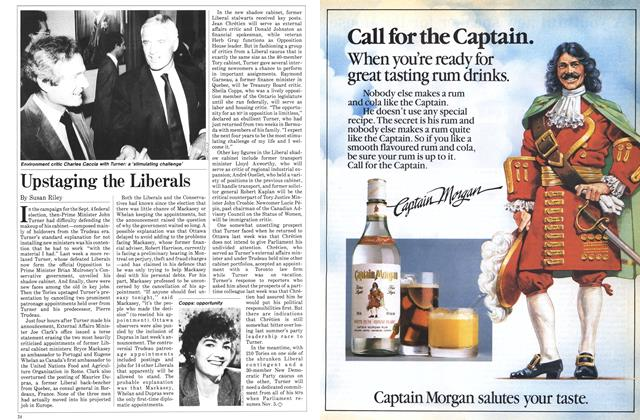 Article Preview: Upstaging the Liberals, October 1984 | Maclean's