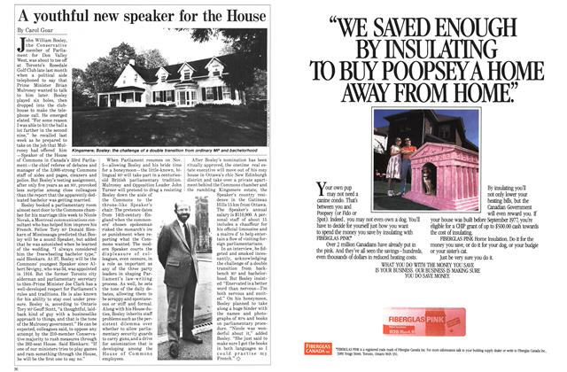 Article Preview: A youthful new speaker for the House, October 1984 | Maclean's