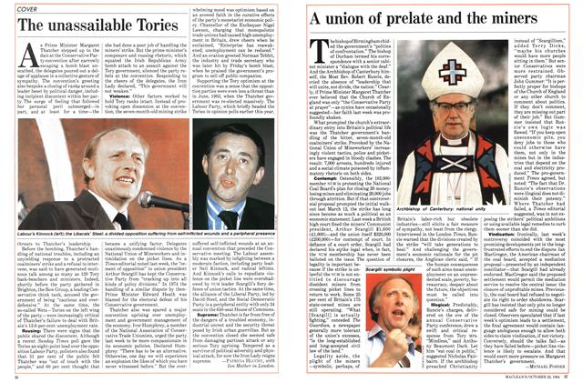Article Preview: A union of prelate and the miners, October 1984 | Maclean's