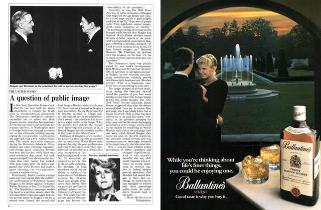 Article Preview: A question of public image, October 1984 | Maclean's