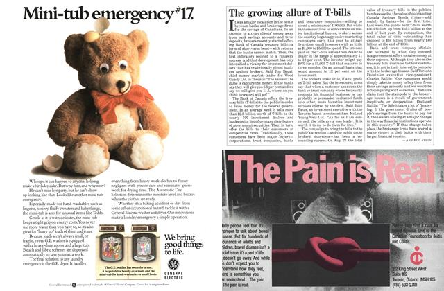 Article Preview: The growing allure of T-bills, October 1984 | Maclean's