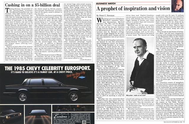 Article Preview: Cashing in on a $5-billion deal, October 1984 | Maclean's