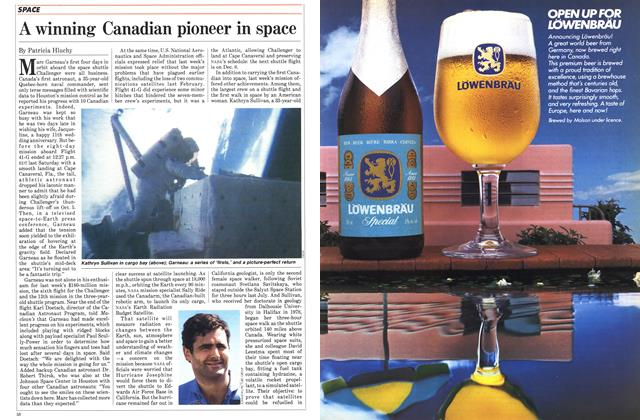 Article Preview: A winning Canadian pioneer in space, October 1984 | Maclean's