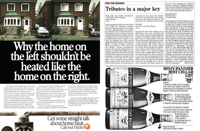 Article Preview: Tributes in a major key, October 1984 | Maclean's