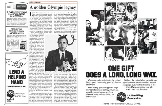 Article Preview: A golden Olympic legacy, October 1984   Maclean's