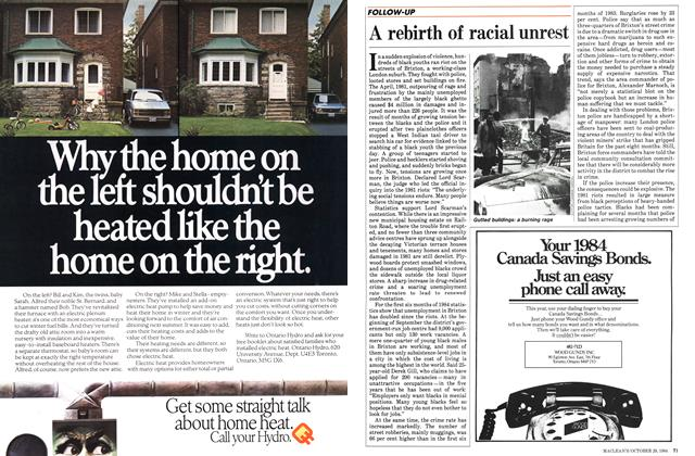 Article Preview: A rebirth of racial unrest, October 1984 | Maclean's