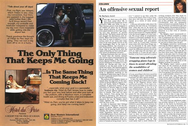 Article Preview: An offensive sexual report, October 1984 | Maclean's