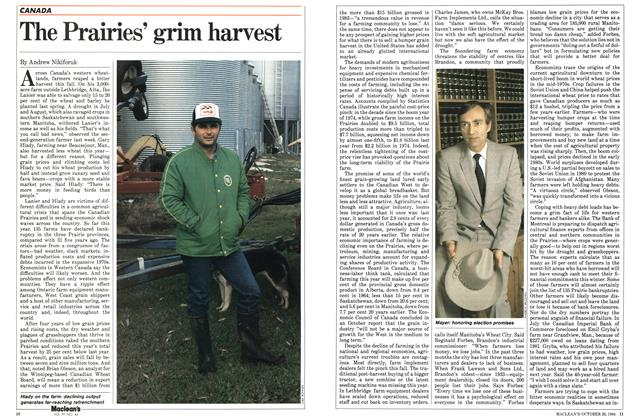 Article Preview: The Prairies' grim harvest, October 1984 | Maclean's