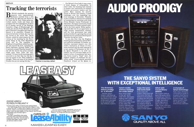 Article Preview: Tracking the terrorists, October 1984   Maclean's