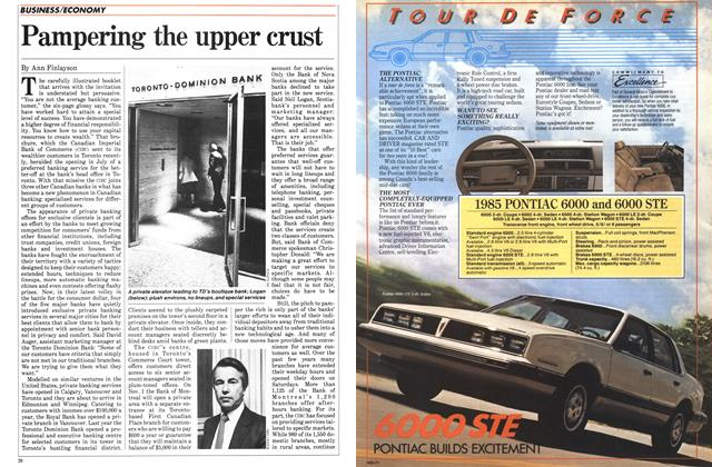 Article Preview: Pampering the upper crust, October 1984 | Maclean's