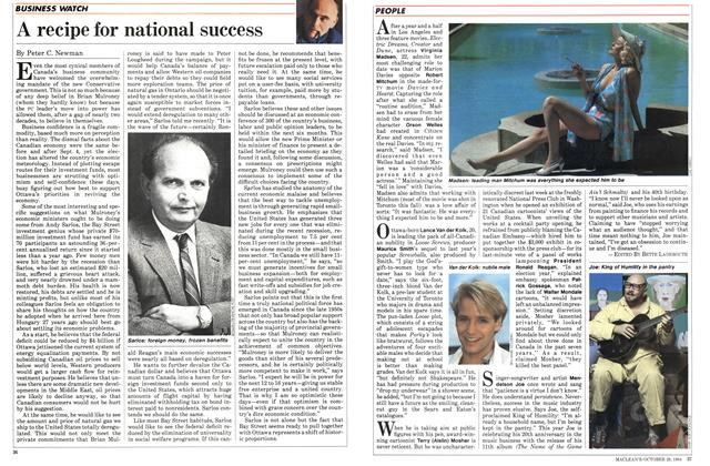 Article Preview: A recipe for national success, October 1984 | Maclean's