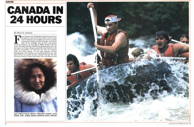 Article Preview: CANADA IN 24 HOURS, October 1984 | Maclean's