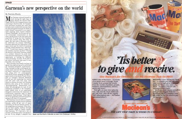 Article Preview: Garneau's new perspective on the world, October 1984 | Maclean's