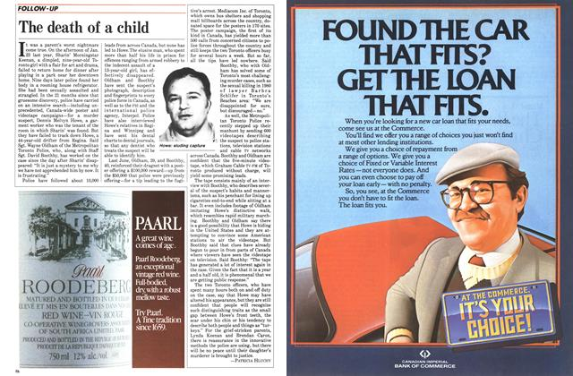 Article Preview: The death of a child, October 1984 | Maclean's