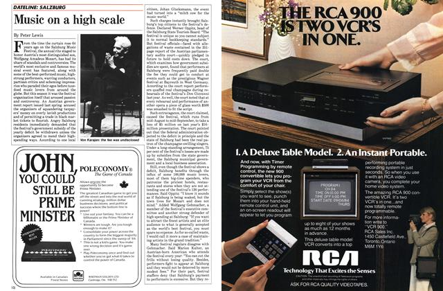 Article Preview: Music on a high scale, November 1984 | Maclean's