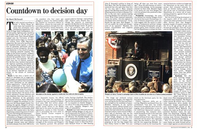 Article Preview: Countdown to decision day, November 1984 | Maclean's