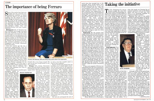 Article Preview: The importance of being Ferraro, November 1984 | Maclean's