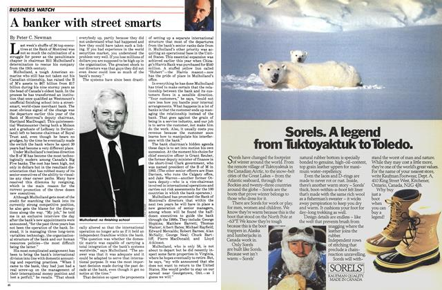 Article Preview: A banker with street smarts, November 1984 | Maclean's
