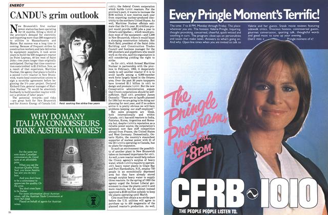 Article Preview: CANDU's grim outlook, November 1984 | Maclean's