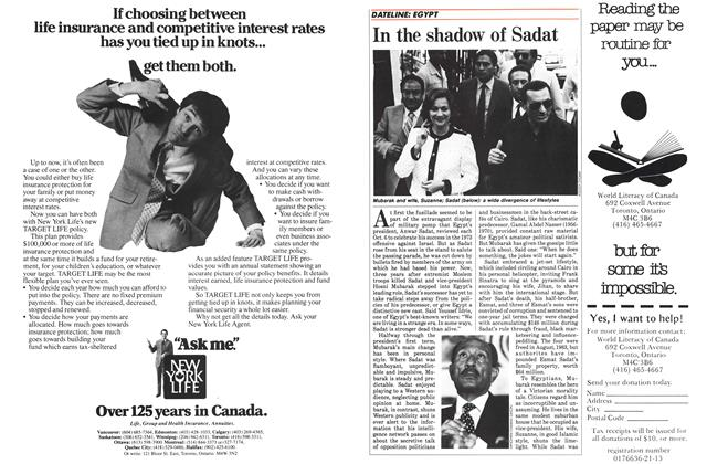 Article Preview: In the shadow of Sadat, November 1984 | Maclean's